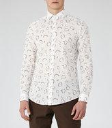 Reiss Halston Abstract Print Shirt