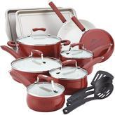 Paula Deen Savannah 17-Piece Red Cookware Set with Lids