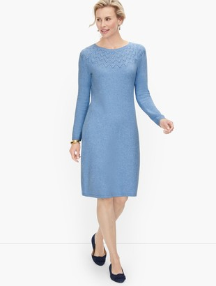 Talbots Pointelle Detail Sweater Dress