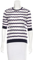 Carven Striped Crew Neck Sweater