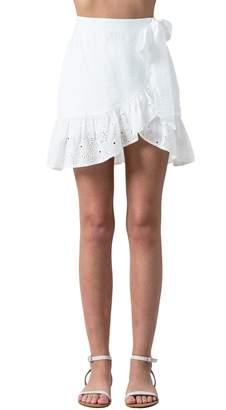 Flying Tomato Wrap Eyelet Skirt