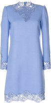 Ermanno Scervino lace detail high neck dress - women - Silk/Cotton/Polyamide/Wool - 42