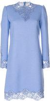 Ermanno Scervino lace detail high neck dress - women - Silk/Cotton/Polyamide/Wool - 42