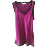 Maje Purple Silk Top for Women