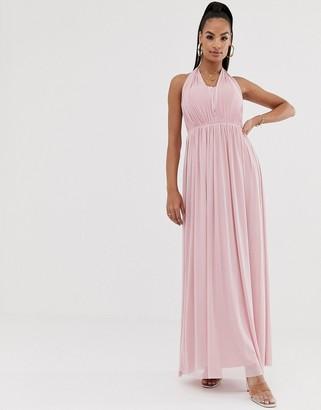 Lipsy halterneck chiffon maxi dress
