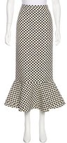Saloni Polka Dot Midi Skirt