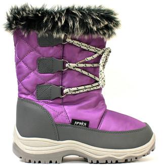 Lamo Cold Weather Boots Purple - Purple Contrast Boot - Kids
