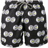Okun - Ali oju print swim shorts - men - Polyester - S