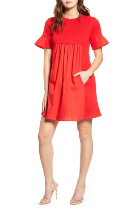 ENGLISH FACTORY Solid Minidress