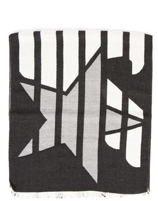 Emporio Armani Stripes Black Scarf