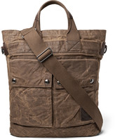 Polo Ralph Lauren - Leather-trimmed Distressed Waxed Cotton-canvas Tote Bag