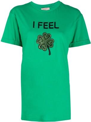 Twin-Set Diamante Slogan T-Shirt