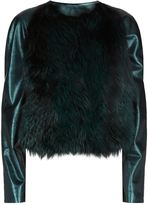 Elie Tahari Maybelle Fox Fur Jacket