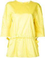 Jil Sander gathered blouse - women - Cotton - 34