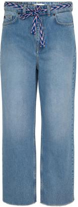 Gerard Darel 7-8 Wide Leg Jeans With Belt