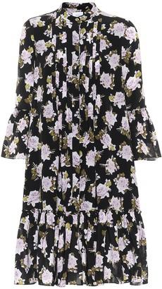 Erdem Winford floral silk crepe minidress