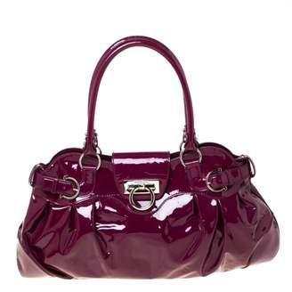 Salvatore Ferragamo Purple Patent leather Handbags