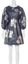 Suno Virgin Wool Brocade Dress