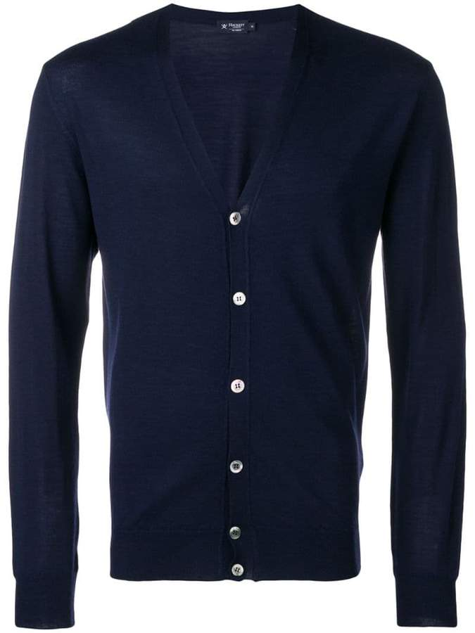 Hackett V-neck button front cardigan