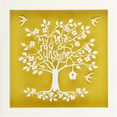 Almond Tree Designs My Little Ray of Sunshine Typography Paper Cut Wall Art