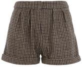 Dorothy Perkins Brown check high waist shorts
