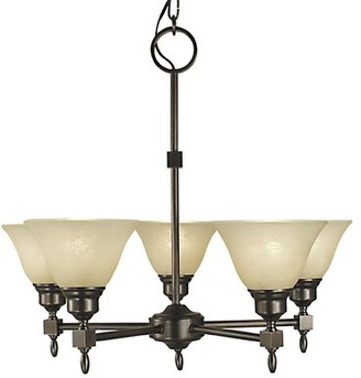 Landgraf Charlton Home 5 - Light Shaded Classic / Traditional Chandelier Charlton Home Color: Siena Bronze, Shade Color: White