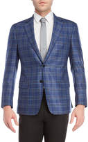 Giorgio Armani Blue Plaid Sport Coat