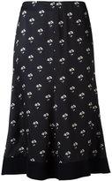 Victoria Beckham printed midi skirt - women - Cotton/Polyamide/Spandex/Elastane/Viscose - 14