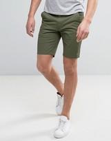 Farah Hawk Straight Chino Shorts in Green