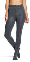 Xhilaration Women's Fleece Lined Tights Gray