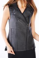 BCBGMAXAZRIA Black Leather Vest