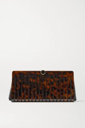Cult Gaia Iris Acrylic And Textured-leather Clutch - Tortoiseshell