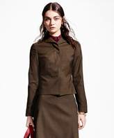 Brooks Brothers Petite Pick-Stitched Wool-Blend Jacket