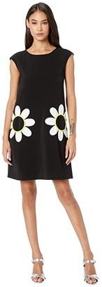 Boutique Moschino Daisy Pocket Dress (Black Multi) Women's Clothing