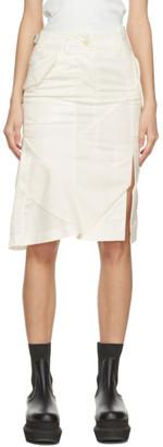 Sacai White Hank Willis Thomas Edition Mid-Length Mix Skirt