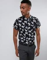 Burton Menswear Slim Short Sleeve Shirt In Floral Print