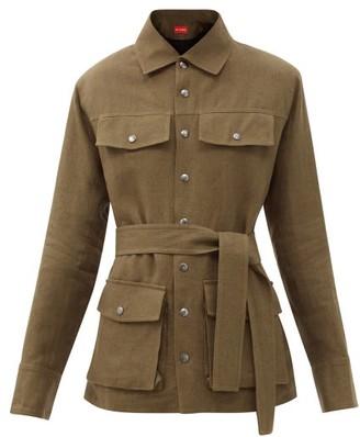 Art School Belted Linen Jacket - Khaki