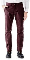 GUESS Men's Coated Twill Chino Pants