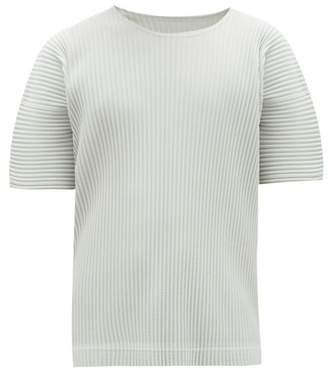 Issey Miyake Homme Plissé Homme Plisse Crew Neck T Shirt - Mens - Grey