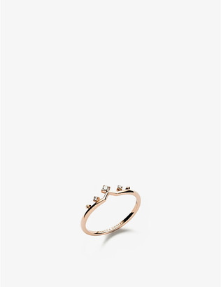Kendra Scott Michelle 14ct rose-gold and diamond ring