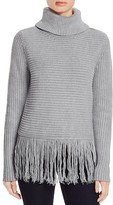 MICHAEL Michael Kors Turtleneck Fringe Sweater