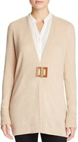 Magaschoni Leather Closure Cashmere Cardigan