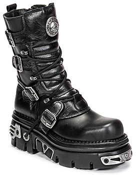 New Rock NEMESIS women's Mid Boots in Black