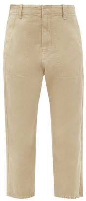 Nili Lotan Luna Cotton-blend Drill Cropped Trousers - Beige