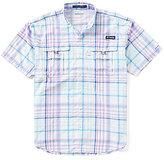 Columbia PFG Super Bahama Plaid Short-Sleeve Shirt