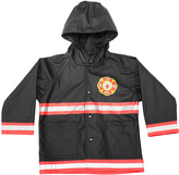 Western Chief Black & Red Fire Chief Raincoat - Toddler & Boys