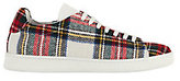 Joshua Sanders Plaid Double Sole Lace-Up Sneakers