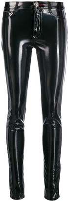Philipp Plein Patent Skinny Trousers