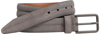 Johnston & Murphy Contrast Distressed Suede & Leather Reversible Belt