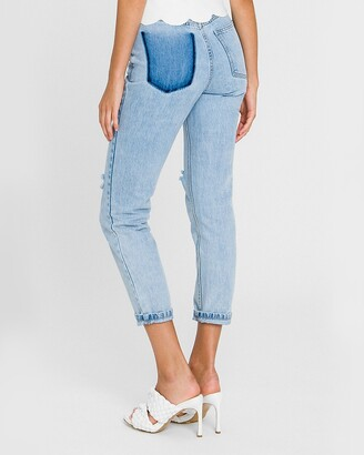 Express English Factory High Waisted Back Pocket Detail Skinny Jeans